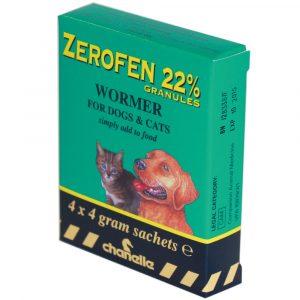 Zerofen Wormer 22% 4g cats & dogs