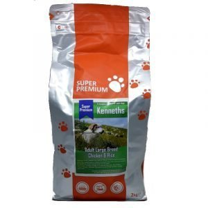 Kenneths Super Premium  Adult Dog Food (Large Breed) – Chicken & Rice